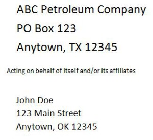 You can learn even from the addresses on oil and gas royalty statements